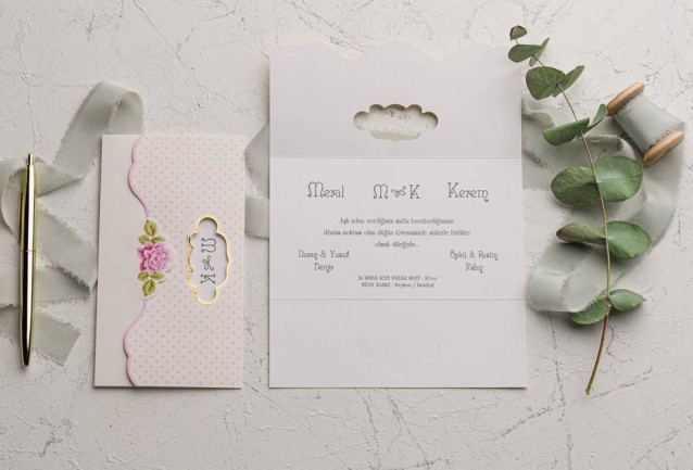Ekonom Wedding Invitation 9101