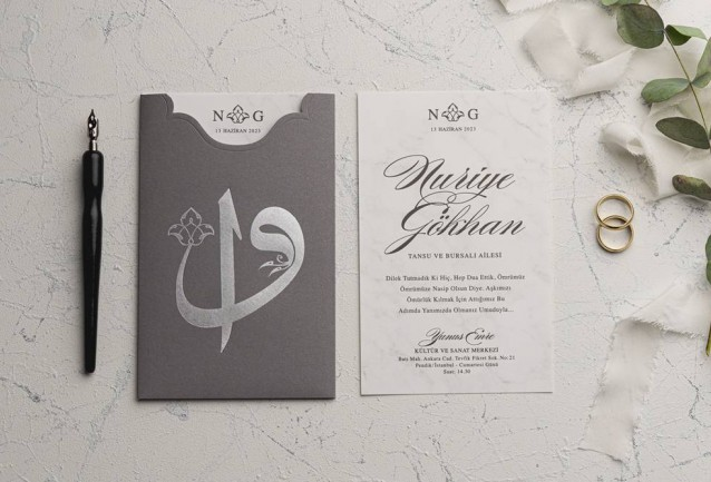 Ekonom Wedding Invitation 9181