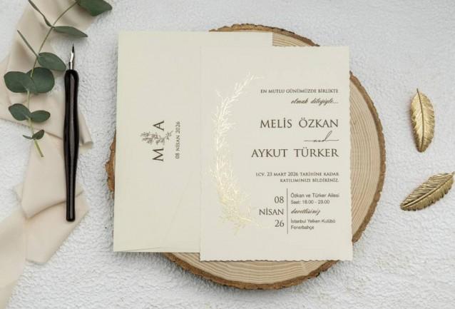 Ekonom Wedding Invitation 9229